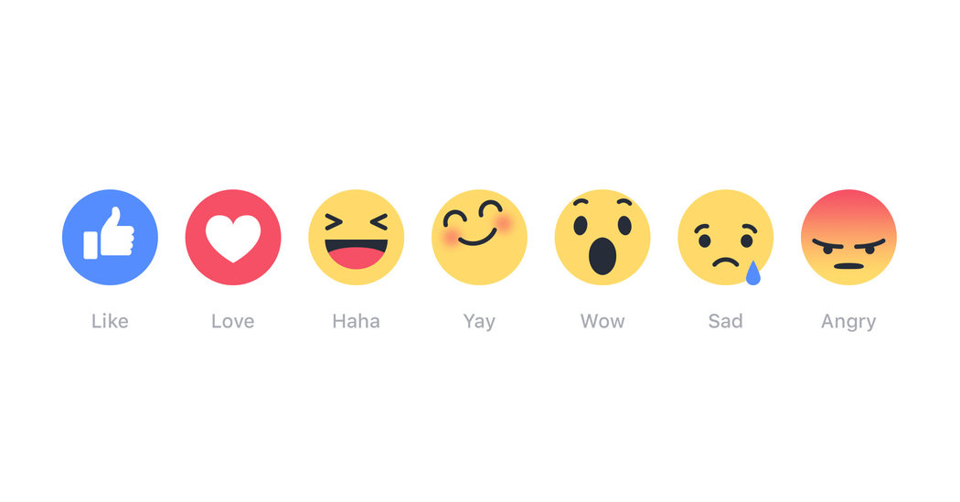 Facebook reactions ikony